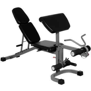 XMark Fitness FID Flat Incline Decline Weight Bench with Arm Curl and Leg Developer XM-4418