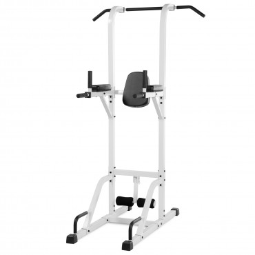 XMark Fitness VKR Vertical Knee Raise with Dip and Pull-up Station Power Tower XM-4432-WHITE