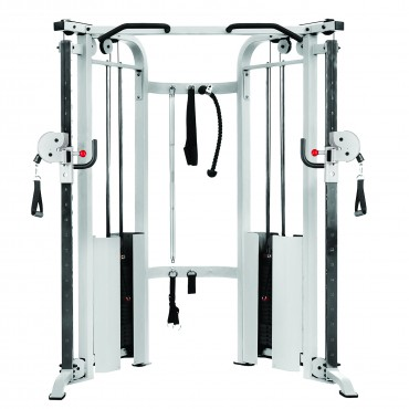 XMark Fitness Functional Trainer Cable Machine with Dual 200 lb. Weight Stacks, 19 Adjustments And Accessory Package XM-7626-WHITE