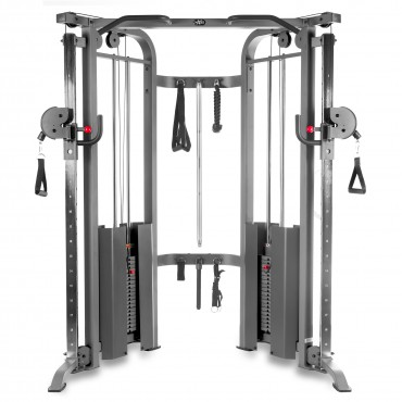 XMark Fitness Functional Trainer Cable Machine with Dual 200 lb. Weight Stacks, 19 Adjustments And Accessory Package XM-7626