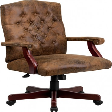 Brown High Back Exec Chair