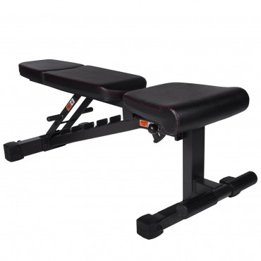 XMark Fitness Power Series Adjustable Flat Incline Decline Bench, 1500 lb. Wgt. Capacity, 7 Back Pad Positions From Decline at -20 degrees To Incline of 85 degrees, and 3 Ergonomical Seat Pad Positions XM-9010