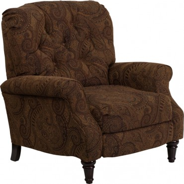 Brown Fabric Recliner