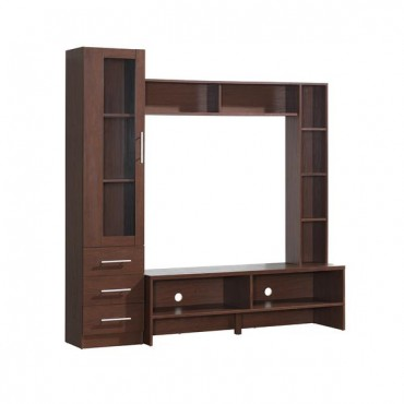 "Techni Mobili Entertainment Center with Storage For TVs Up To 50"". Color: Hickory"