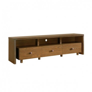 """Techni Mobili Elegant TV Stand For TV's Up To 75"""" with Storage. Color: Walnut"""