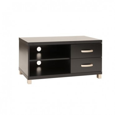 """Techni Mobili Modern TV Stand with Storage For TVs Up To 40"""". Color: Black"""