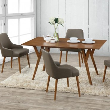 Techni Mobili Home Modern Dining Chair Two Piece Set