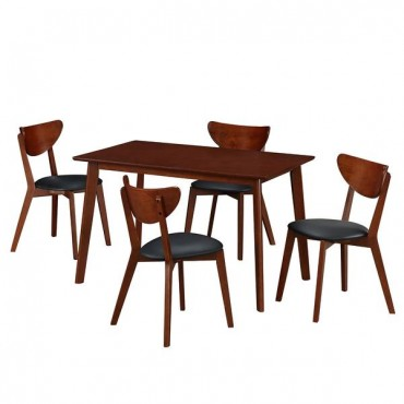 Modern Wood Dining Room Table and Chairs Set